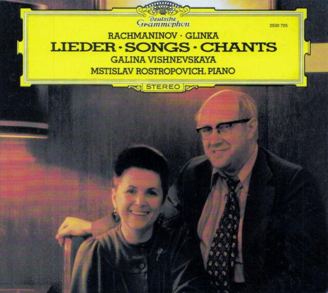 RACHMANINOV - GLINKA : SONGS - VISHNEVSKAYA, ROSTROPOVICH / CD