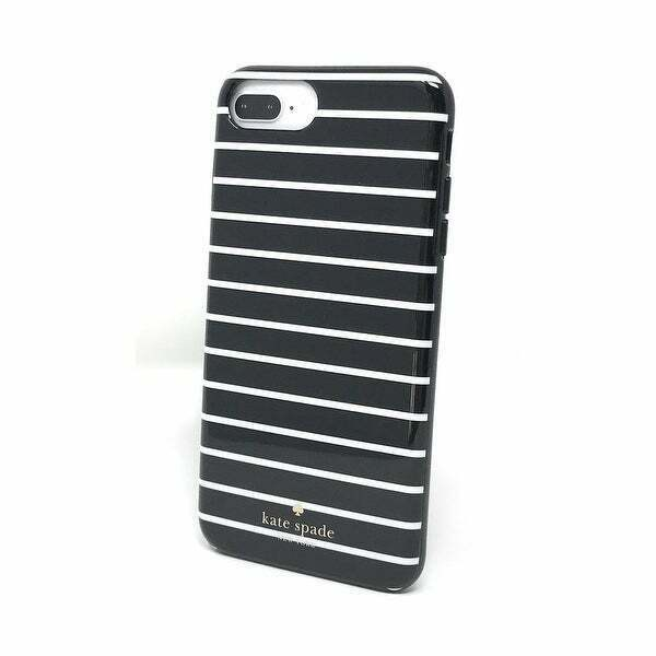 detailed look 54669 27975 Kate Spade iPhone 7 Plus iPhone 8 Plus Protective Hard Case Black White  Stripe