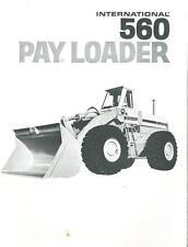INTERNATIONAL 560 PAYLOADER BROCHURE - BX105