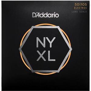 D'addario Nyxl Bass Guitar Strings Regular Gauge 50-105 Long Scale