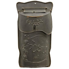 Vintage style Country Mail box Aged Black Metal Decorative