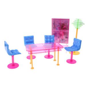17 Pz 1//6 Mobili per sala da pranzo per casa delle bambole Set di sedie da