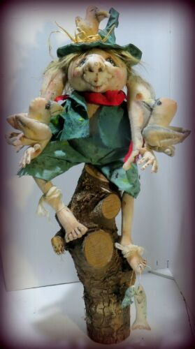 *NEW* Cloth Art Doll (Paper) Pattern Woodsy By Sharon Mitchell
