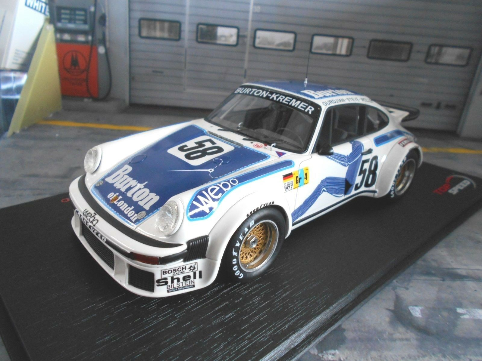 Porsche 911 934 TURBO LE MANS 1977 Kremer  58 Wollek Burton TSM Top Speed 1 18