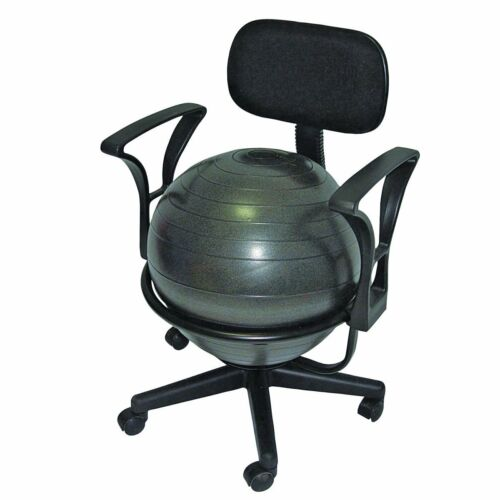 CanDo Metal Mobile Inflatable Ball Stabilizer Chair With Arms 30-1791 New