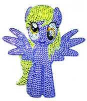 Mlp My Little Pony Crystal Studded Muffins Large Decal Sapr16-119