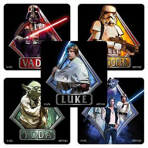 Star-Wars-Stickers-x-5-Party-Supplies-Favours-Loot-Bags-Classic-Episode-IV