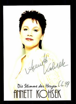 National Erfinderisch Annett Kohsek Autogrammkarte Original Signiert ## Bc 63576 SorgfäLtige FäRbeprozesse