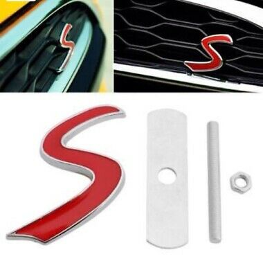 One 3d Red Replacement Badge Uk Mini Car Front Bonnet Cooper Works