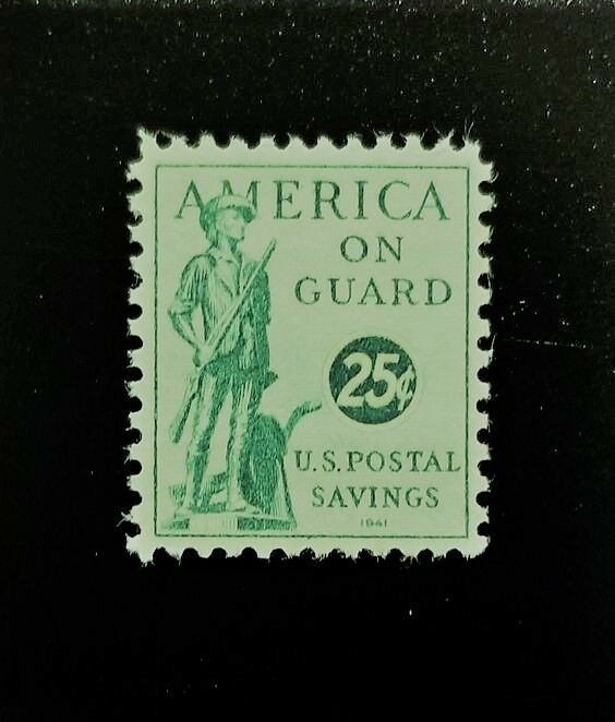 1941 25c U.S. Postal Savings Stamp, America on Guard Sc
