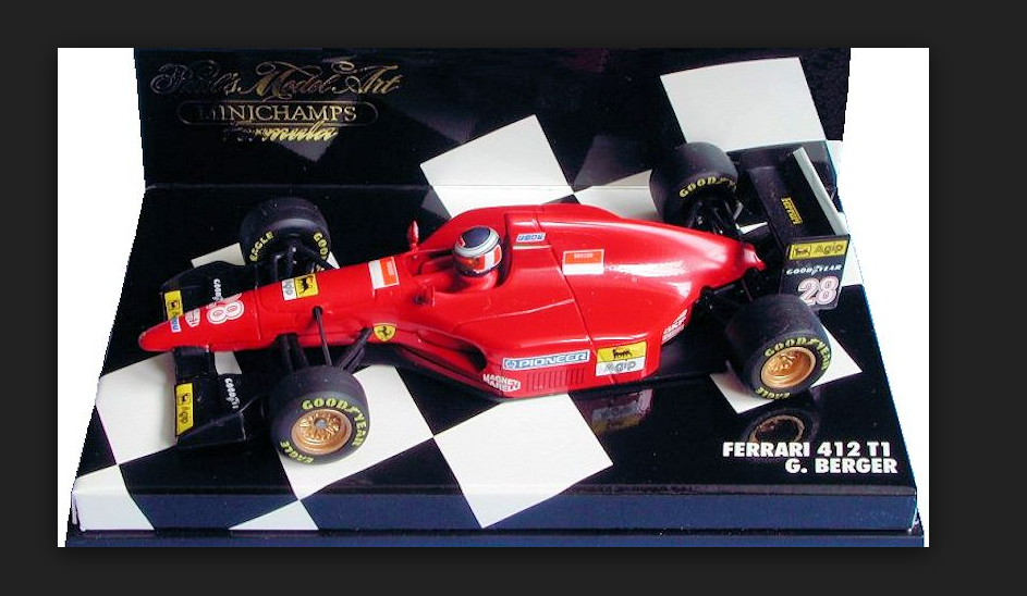 Ferrari 412T1 412T1 412T1 G.Berger 1994 1 43 430940028 Minichamps c62333