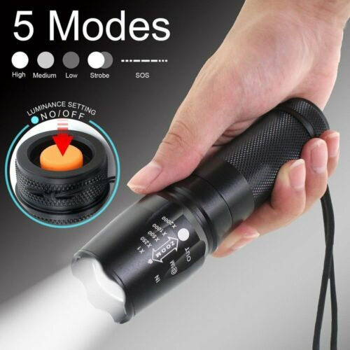 350000LM Police Tactical X800 T6 LED Flashlight Torch Zoom Work Light Headlamp x