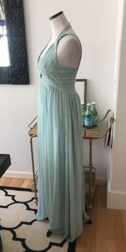 Lulus Mint Sage Green Peach Bridesmaid Formal Maxi Dress Summer Wedding S M Navy