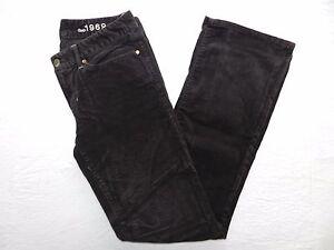 WOMENS-brown-corduroy-sexy-boot-stretch-PANTS-GAP-1969-SIZE-28-6-km32