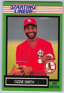 1989  OZZIE SMITH - Kenner Starting Lineup Card - ST. LOUIS CARDINALS