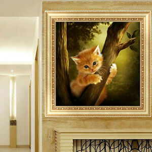 Diy 5d Diamond Embroidery Mosaic Naughty Cat Painting