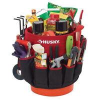 Husky 5 Gallon Bucket Organizer Tote Bag Gardening Tool Holder 30 Storage Pocket