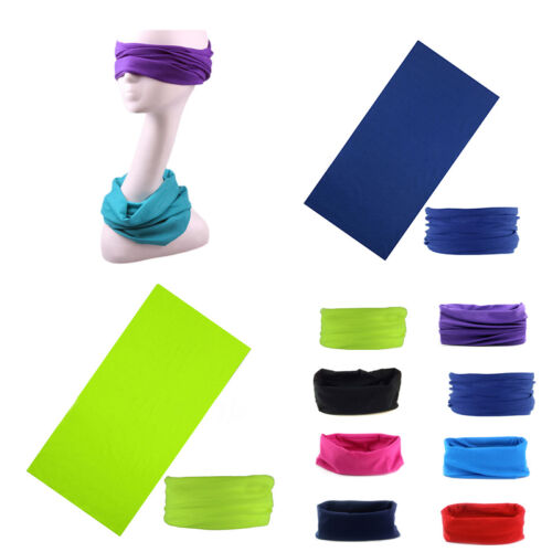 1PC Scarf Tube Bandana Head Face Cover Neck Gaiter Snood Headwear Beanie Solid