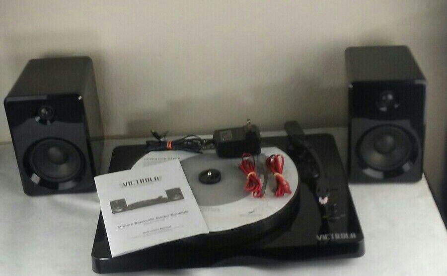 VICTROLA Turntable RECORD Player STREAM via BLUETOOTH 50-Watt Speakers ITUT-420. bluetooth player record speakers stream turntable via victrola