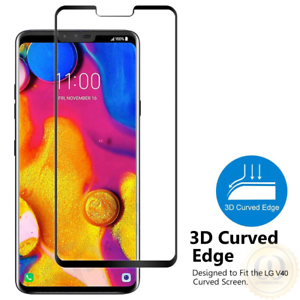 Details about 3D Curved Full Coverage Tempered Glass Screen Protector For  LG V40 ThinQ