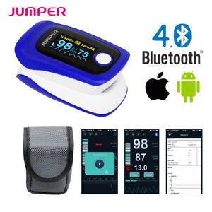 Oximetro-Pulsometro-Pulso-Dedo-Saturacion-Oxigeno-Monitor-Bluetooth-IOS-Android