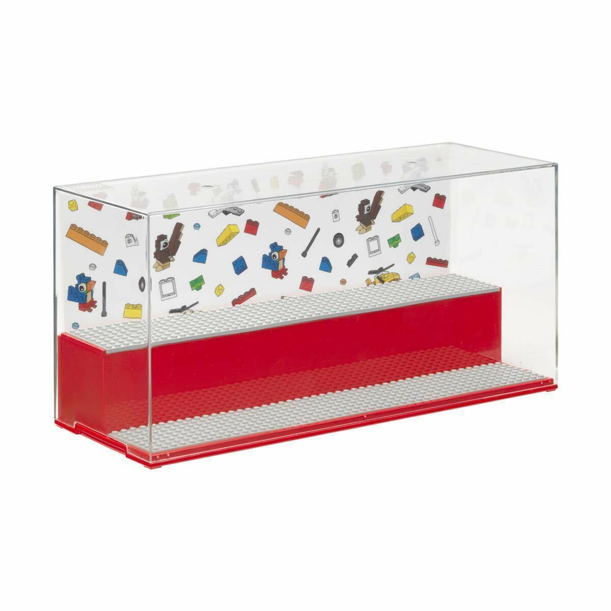 Lego Rouge Jeu & Boîte de Présentation Tout Nouveau - 2 Niveau Écran D'Affichage