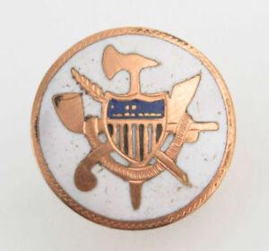Order-of-Redmen-Vintage-TOTE-Lapel-Pin-1800s-Antique-Shield-Crest-Member