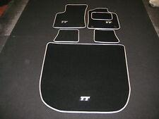 Audi TT Mk1 (1999-2006) Car Mats + Boot Mat in Black with Silver trim + TT Logos