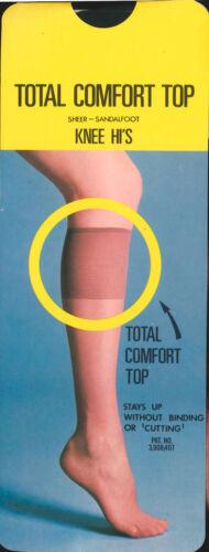 NEU Orginal 70er USA-Made Nylon Kniestrümpfe Knee socks Stockings div Farben