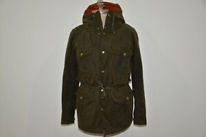 Orvis x Barbour Wessex Wool Hooded 100% Waxed Cotton Jacket M  95eeb5892326