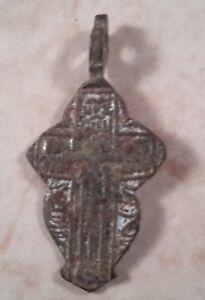 Antique Russian Christian Cross Pendant 18th-20th Century Copper Alloy Bronze 07
