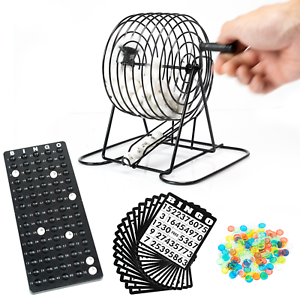 WYZworks-Bingo-Set-Deluxe-Kit-75-Bingo-Balls-150-Chips-Metal-Cage-Call-Board