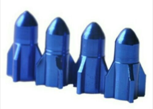 Rocket Jet Style Alloy Car Wheel Tire Tyre Valve Dust Caps Covers Tire Set of 4
