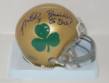 BRIAN KELLY and MANTI TE'O signed Notre Dame Mini Helmet with SHAMROCK auto