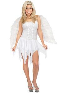 image is loading angel dress white christmas guardian fancy dress up - White Christmas Dress