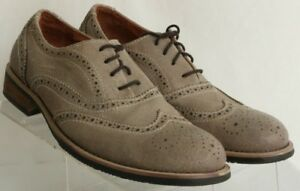 Kenneth-Cole-Reaction-Rogue-Trip-Grey-Leather-Suede-Wing-Tip-Oxfords-Men-039-s-US-9M