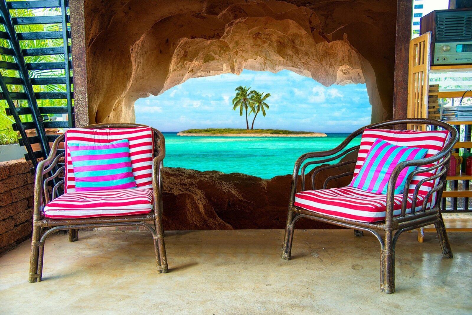3D Steinhöhle Insel Himmel 8757 Tapete Wandgemälde Tapeten Bild Bild Bild Familie DE Lemon | Kostengünstiger  | Preiszugeständnisse  | Online Outlet Store  9e1546