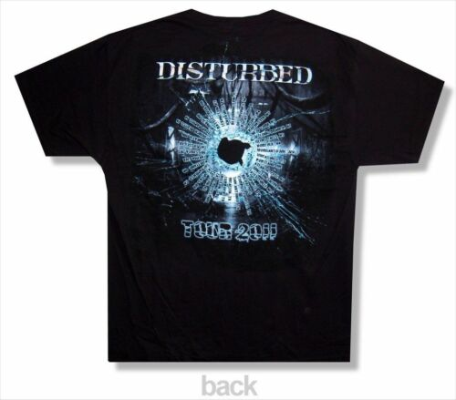 Disturbed Band Photo 2011 Tour Black T Shirt New Official Metal Group