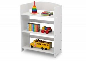 Details About Small Kids Bookshelf Short Wooden Compact 3 Shelf Tier White Open Bookcase New