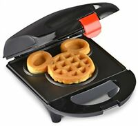 Disney Mickey Mini Waffle Maker, Mouse Breakfast Kitchen Party Kids Eating Black
