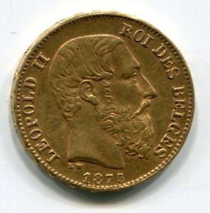 Belgien-20-Francs-Gold-Leopold-II-Goldmuenze-Verschiedene-Jahrgaenge