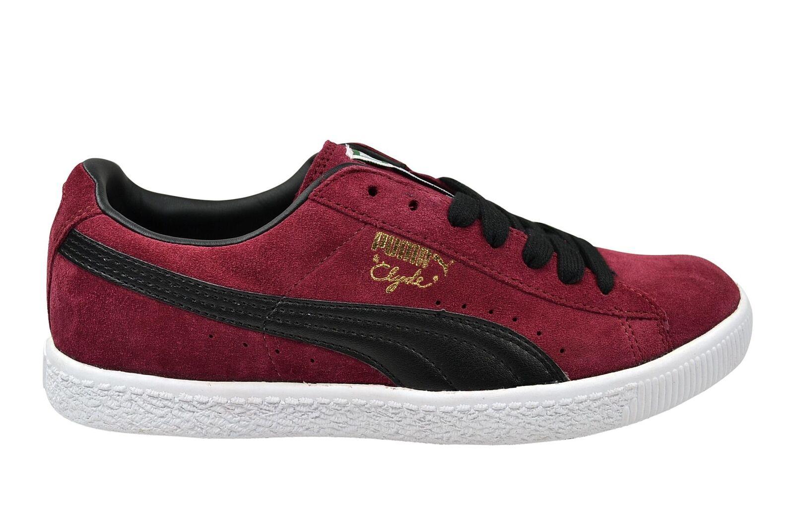 Puma Clyde Schuhe/Sneaker Script team burgundy/schwarz Leder Schuhe/Sneaker Clyde rot/schwarz 89ec60