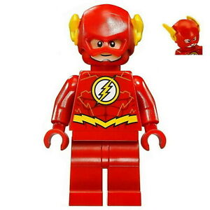 LEGO-The-Flash-Minifigure-DC-Justice-League-Superhero-Gold-Batman-76098