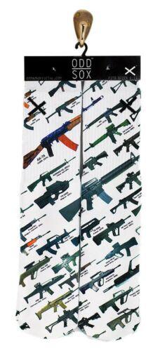 Odd Sox arsenale SOCKS Calze Guns Army t65 AKMS ak47 Vector Tattoo Ink Odd così