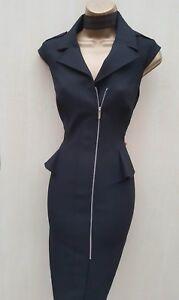 Shirt Nero Karen Dress 12 Misura Tailored Millen Business Trench Biker Uk Peplo xq8qfPwH