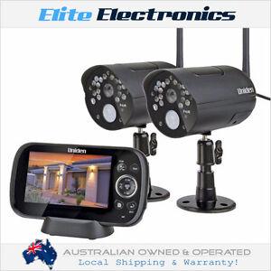 """uniden g1420 4.3"""" guardian wireless surveillance 2 cameras"""