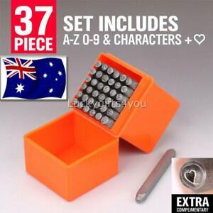 37PCS-Letter-Number-Punch-Set-1-Stamp-Hardened-Metal-Marking-Stamping-AU
