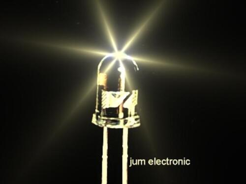 20 Stück Leuchtdioden  /  Led / 5mm WARMWEIß 20000mcd / hoher Fertigungsstandard