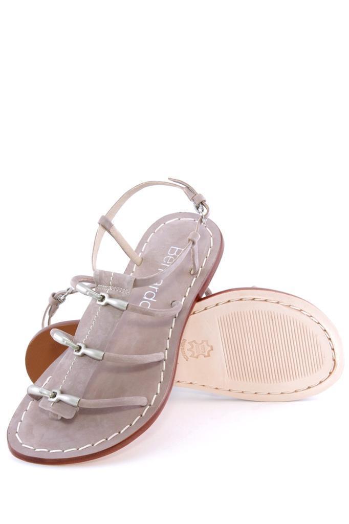 Donna  Bernardo Maia Maia Maia Sandal Dove Strappy Thong round open toe Leather NEW cee6f1