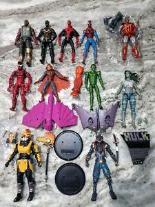 Marvel Legends Vintage Toybiz McFarlane Loose Figures BAF Piece Spider-man Lot